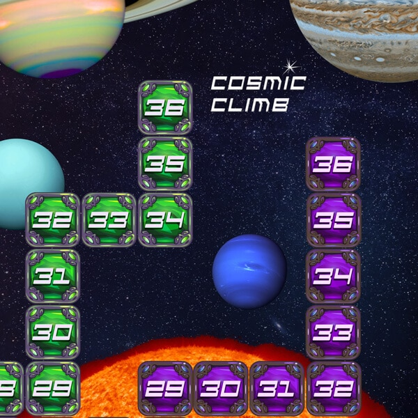 Cosmic Climb Differentiated Math Game