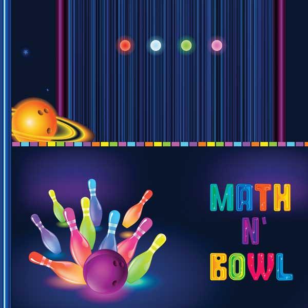 Bowling Math Games Neon