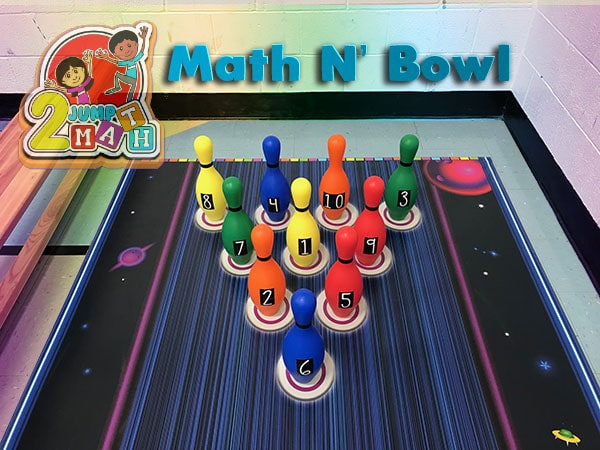 Bowling math games mat