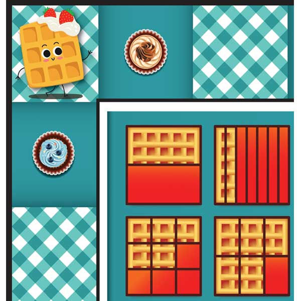 Fractions Games Waffles Mat