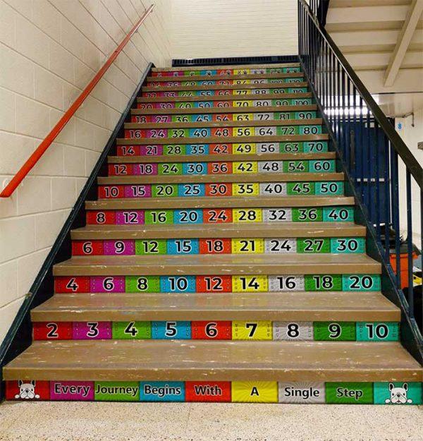 math stairs
