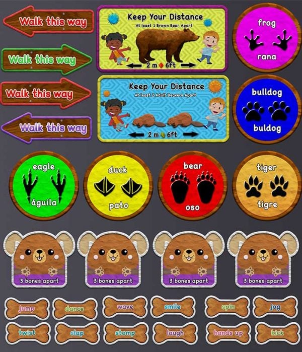 social distancing stickers for schools