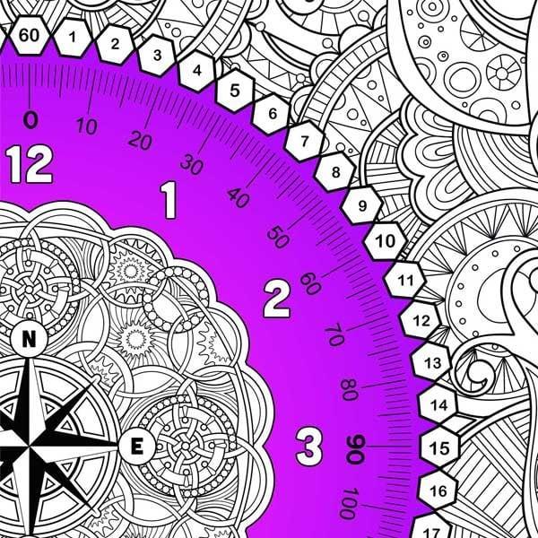 paint by math clock